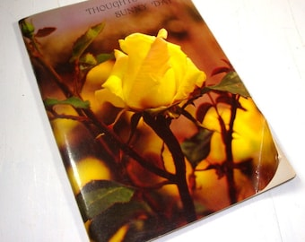 Vintage Book of Poems, Poetry, Thoughts For A Sunny Day, 1970's Ambassador Cards, Golden Thoughts, Yellow Rose, Flowers, Floral   (651-15)