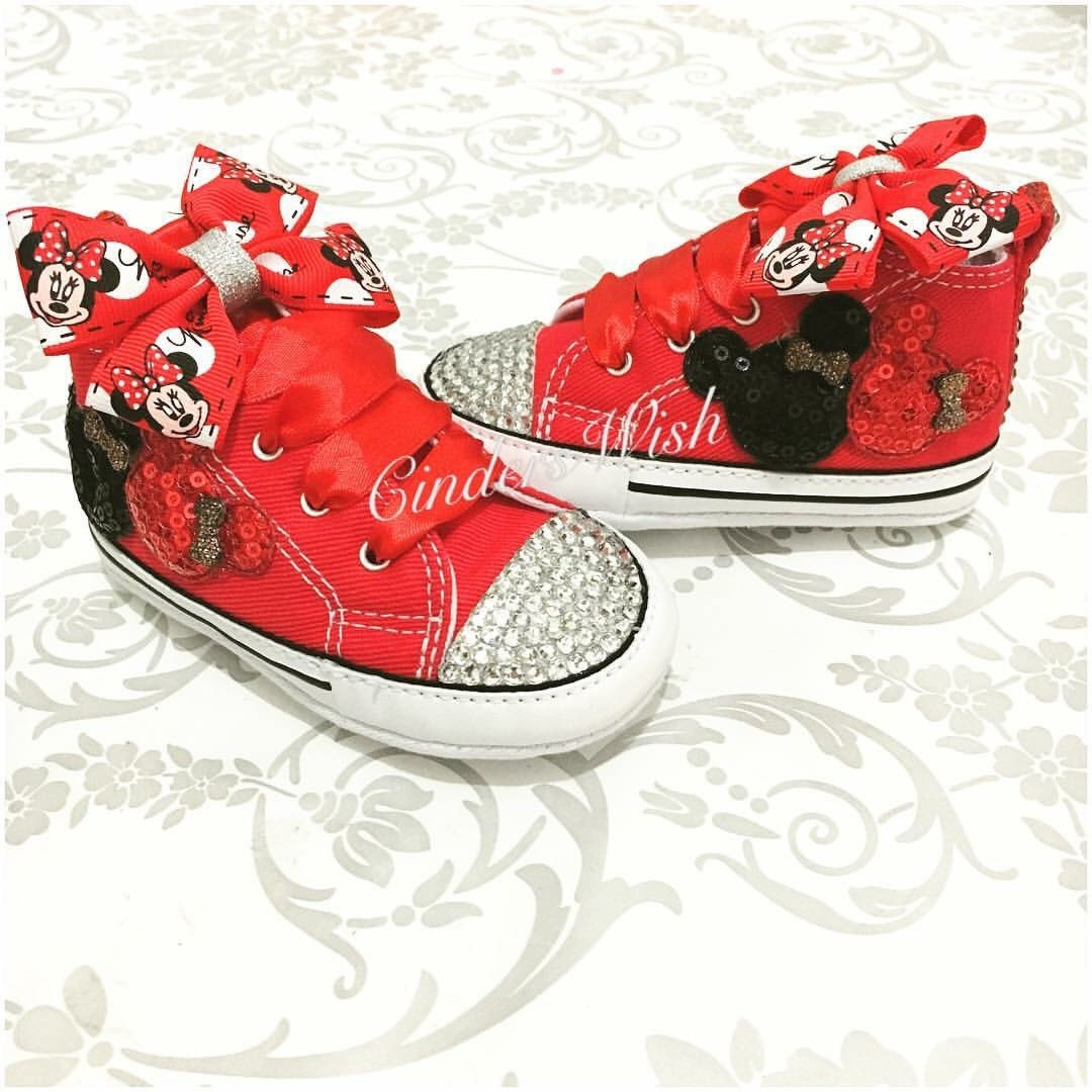 Baby Minnie Mouse Converse Customised Converse Baby