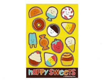 Happy Sweets Vinyl Stickers Sheet