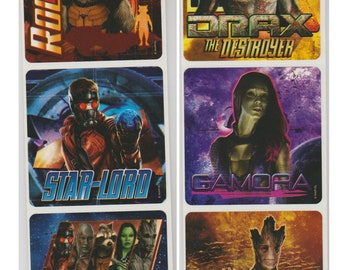 """30 Guardians of the Galaxy 2 Stickers, 2.5"""" x 2.5"""""""