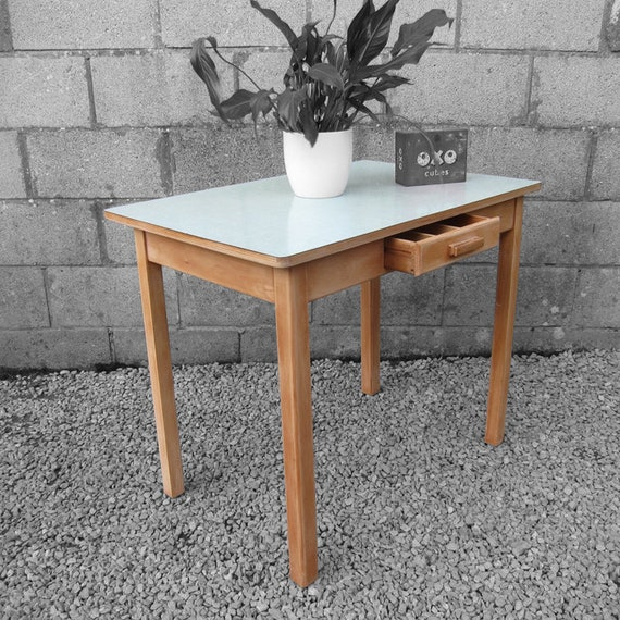 Vintage Green Formica Dining Table Kitsch Mid Century