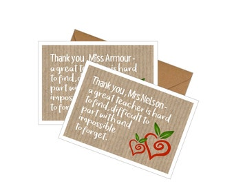 10 Pack Thank-you Cards with Envelopes - Best Teacher