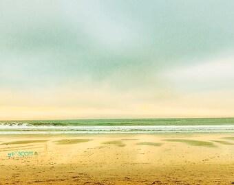 San Diego Beach Print | Dreamy Film Photography | Golden Sunset | Endless Summer | Beach House Decor | Mid Century Home Decor | Office Art