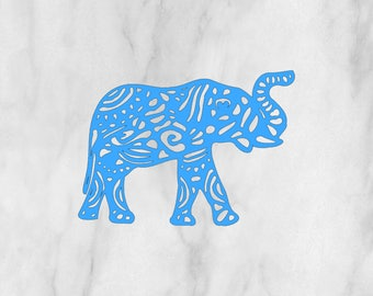 Aztec Elephant Decal / Monogram sticker / yet cooler monogram decal / laptop decal / car decal