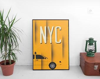 New York Print/ New York Poster/ Wall Art/ NYC City Poster/ NYC Print/ New York City Print/ New York Printable/Minimalist Typography art