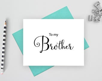 To my brother card, wedding stationery, folded note cards, folded wedding cards, wedding stationary, wedding note cards, wedding card