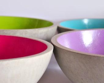Large concrete fruit bowl | Source | Concrete fruit bowl | Centerpiece | Large salad bowl | Fruit plate | Industrial Decor