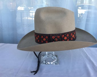 Stetson Billy The Kid Beige Beaver Felt Vintage Men's Ski Hat