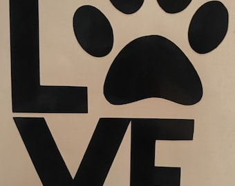 """Dog Lovers """"Puppy Love"""" Decal"""