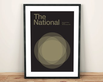The National Remixed Gig Poster, Art Print, Music Poster