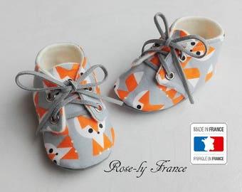 Baby 100% organic Fox (baby shoes)