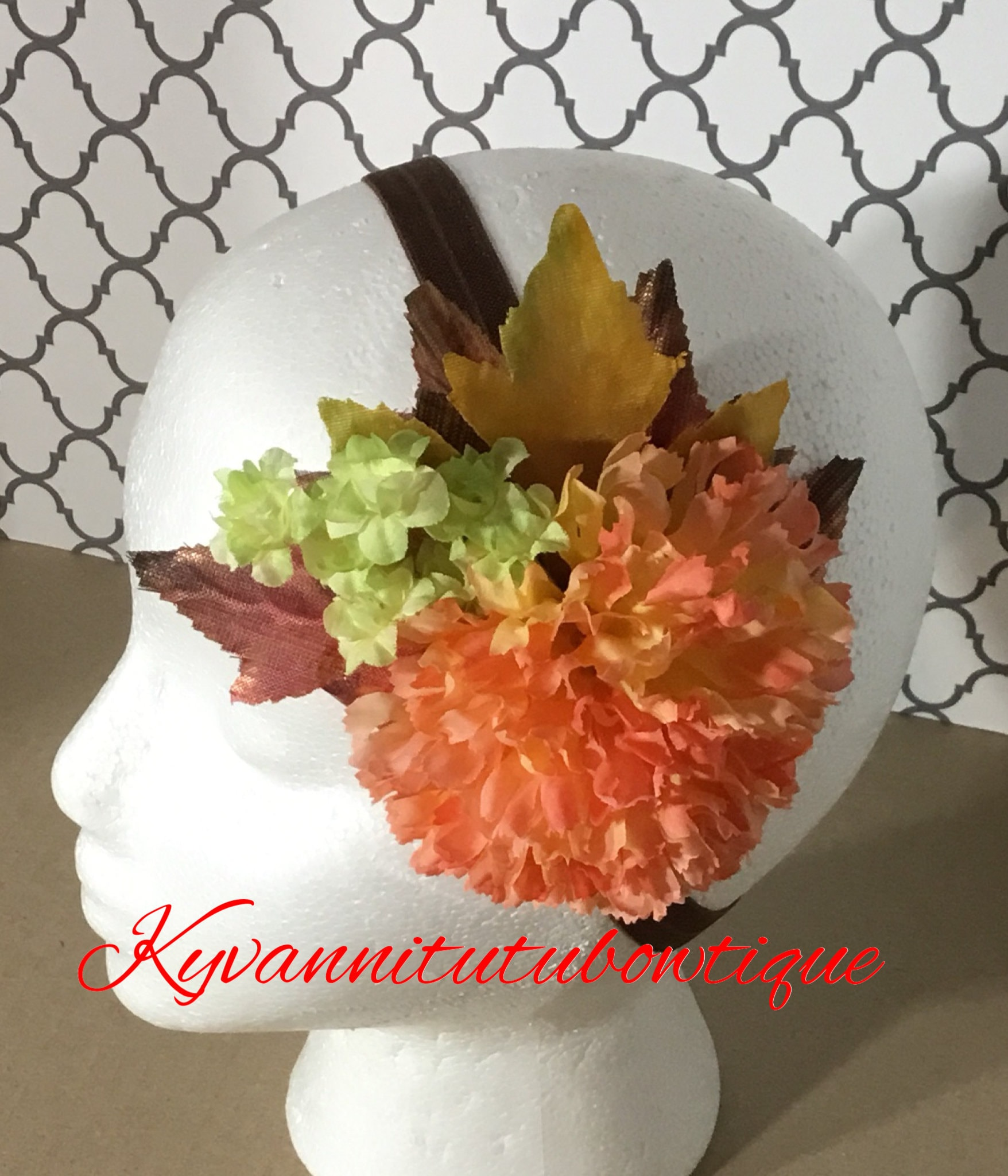 Orange Carnation Silk Flower Orange Carnation Silk Hairbow Orange