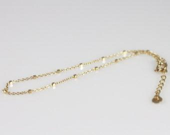 14K solid gold simple bracelet, 14K gold delicate bracelet, 14K layering bracelet, 14K minimalist bracelet, 14K everyday bracelet