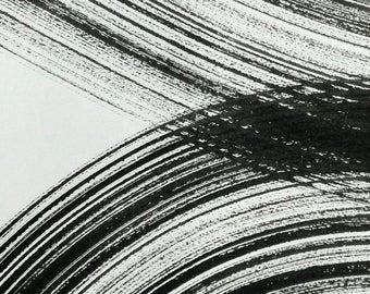 Intersection of lines of black ink. Minimalist. Black and white. Zen