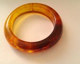 vintage amber coloured plastic bangle