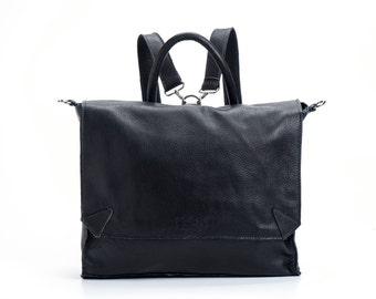 Sac à dos en cuir noir, cartable sac à dos, sac d'école, ordinateur portable sac à dos, sac de messager, vente 10 % de réduction!