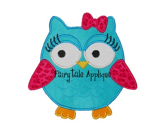 Digital Machine Embroidery Design -  Sassy Owl Applique