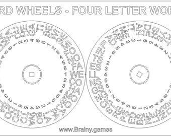 Word Wheels Literacy Game