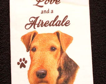 Airedale Terrier Dog Breed Cotton Kitchen Dish Towel