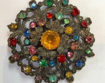 Beautiful1930's Czech Brooch Filigree