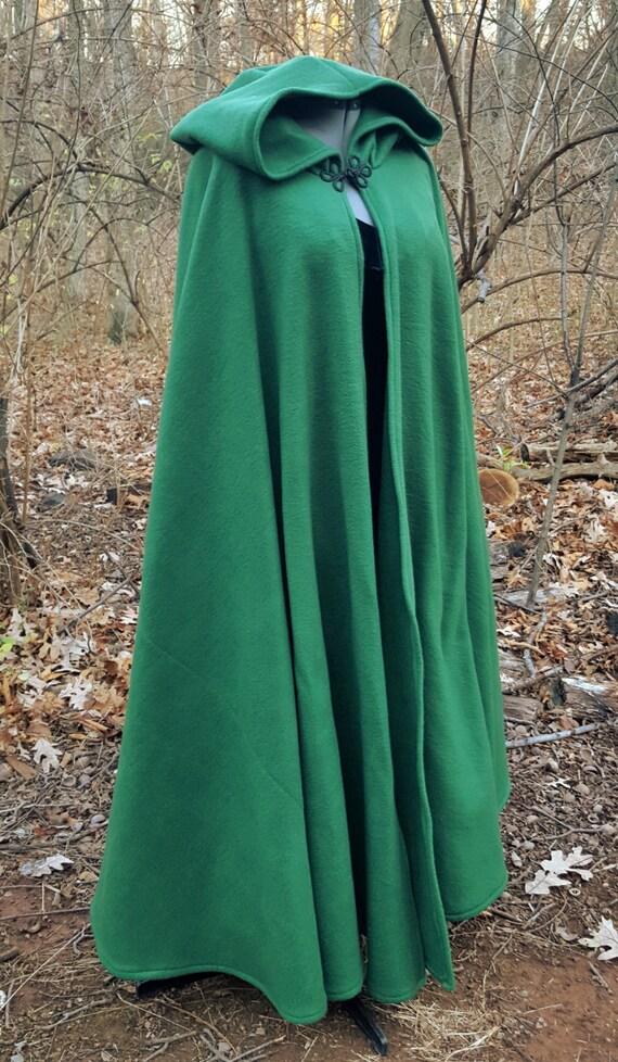 Hooded Cloak - Adult, Dark Green