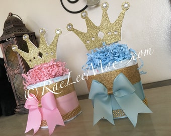 Princess or Prince diaper cake/Prince Baby shower decorations/princess baby shower decorations/little prince/little princess/gender reveal
