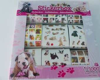1000 decals dog cat puppy kitten stickers