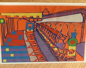 Train Collage Card