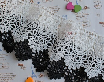 2 Yard Vintage style Cotton Crochet Lace Trim,Crochet Lace Ribbon Lace Trim Crochet Trim White Crochet Lace Trim Embellishment Wedding Lace