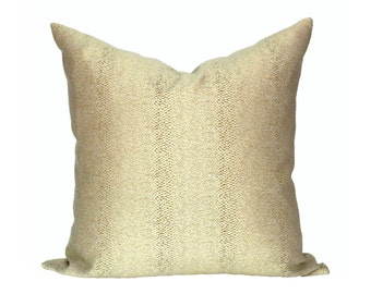 Glossy Slither Gold designer pillow covers - Made to Order