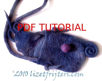 Spiral Felt Bag Tutorial - How to Feltmaking PDF