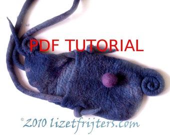 Spiral Felt Bag Tutorial - How to Feltmaking PDF
