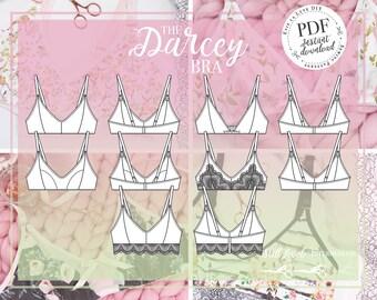 DIGITAL Darcey Soft Bra Sewn pattern - PDF Instant Download - Evie la Luve