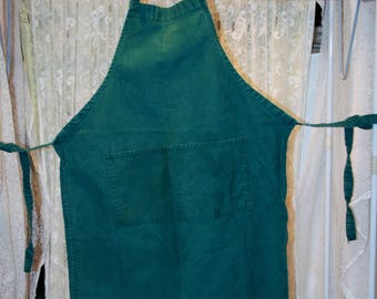 Vintage Green Full Apron