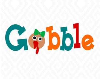 Gobble Turkey Design; Turkey Face; SVG, Studio 3, DXF, EPS, ps and pdf Cutting Files