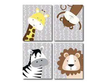 Printable Nursery Art - Safari Nursery Decor - Gender Neutral Nursery - Jungle Nursery - Safari Nursery Set - Nursery Wall Art