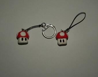 Mario mushroom Toad keychain
