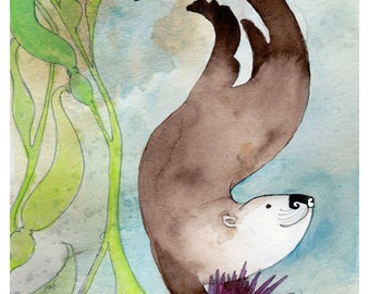 Sea Otter- Otter illustration