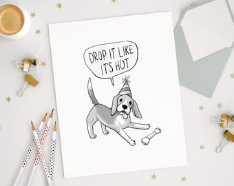 Pug art card birthday cards greeting cards cute card cute funny cards dog cards birthday greeting cards congratulations party dogs bookmarktalkfo Gallery
