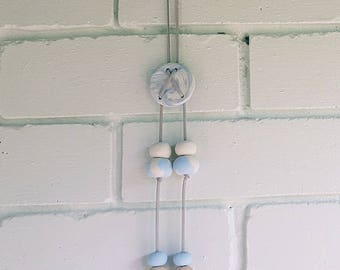 Blue & White Clay Wall Hanging