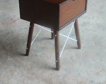 Handmade Nightstand/ Bedside Table/ Mid Century Modern/ Custom Made