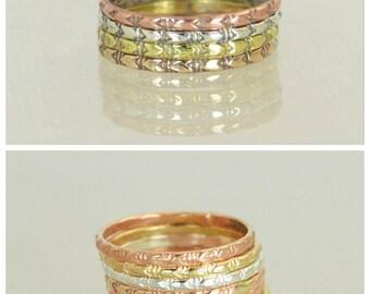 Bohemian Stacking Rings, BoHo Rings, Tribal Rings, Arrow Stacking Ring, Rustic Ring, Sterling Ring, Brass Ring, Bronze Ring, Gold Ring-G2