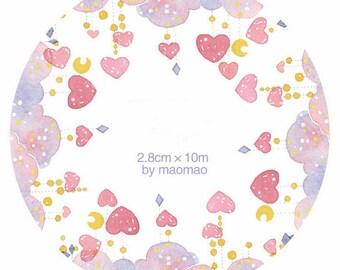 Love heart Washi Tape -- Masking Washi Tape -Deco tape--28mm x10M