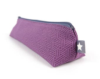 Purple Modern Geometric Pencil Case Small Art Gift Simple Pencil Pouch Teen Gift