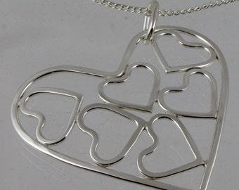 Hearts Within Heart Pendant