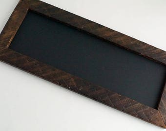 Handmade chalkboard with barn wood frame, ooak handmade decor sign