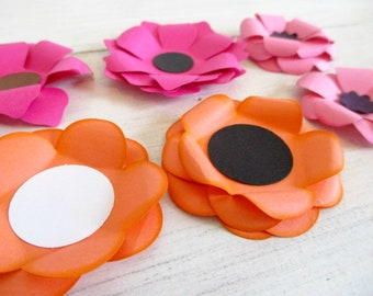 Flowers 10 Paper Flowers Assembled or as a DIY Flower Kit Card Making Embellishment Wreath Flowers Craft Kit Mini Flowers Craft Kit