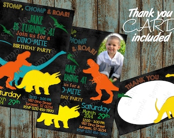 Dinosaur Invitation, Dinosaur Birthday Party Invitaiton, Dinosaur Birthday, Dinosaur Printable Invitation, Dinosaur Party, Dinosaur Invite