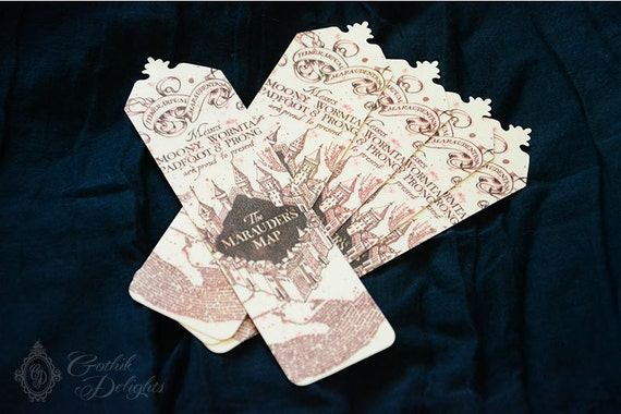 Marauders map bookmark gumiabroncs Gallery