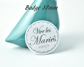 Badge long live the bride and groom collection 37mm
